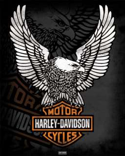 POSTER  Harley Davidson   Eagle   Mini Poster  NEW