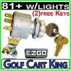 ezgo ignition key switch 81 gas electric golf cart with lights 4 prong