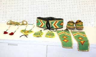 CRAFTED 10 PIECE BEADED NATIVE AMERICAN INDIAN DANCE SET!!!!!