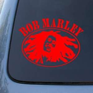 BOB MARLEY   Vinyl Decal Sticker #A1426  Vinyl Color Red