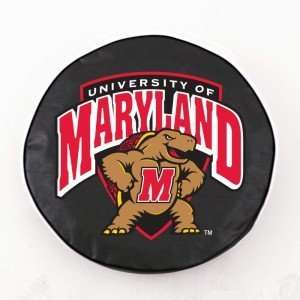 Maryland Terrapins Black Tire Cover, Large Sports