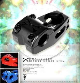 TEMPERED CROSS BONES BMX BIKE BICYCLE TOP LOAD STEM 1 1/8   11.4oz