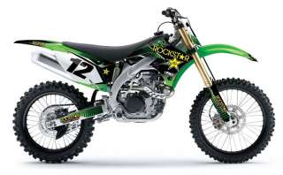 2012 FACTORY EFFEX ROCKSTAR ENERGY GRAPHICS KIT KAWASAKI KX 250 F