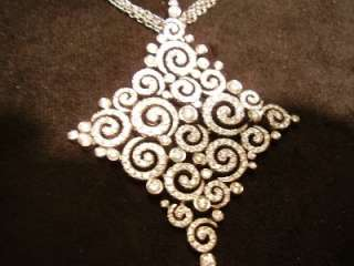 Stefan Hafner 18K White Gold Diamond Necklace