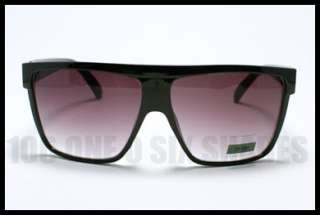 Mob Oversized Sunglasses Sunglasses Squared Flat Top BLACK with Stud