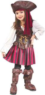 Toddlers High Seas Pirate Girl Halloween Costume 2t