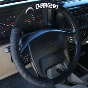 San Diego Chargers Black Steering Wheel Cover  Sports