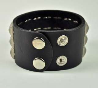 STUD LEATHER WRISTBAND GOTHIC PUNK 80s BLACK METAL DOOM DEATH