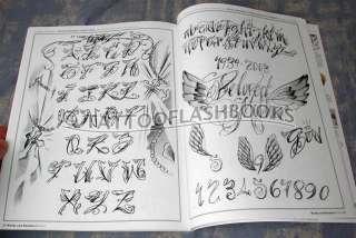 TATTOO SCRIPT NUMBERS Flash Ink Gun Kit Machine Book
