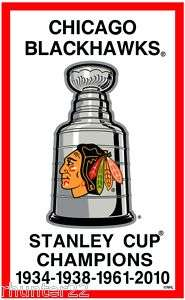 Chicago Blackhawks 3x5 NHL Licensed Stanley Cup Banner