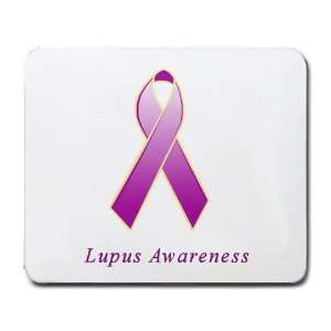 Lupus Awareness Ribbon Mouse Pad: Office Products