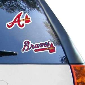 MLB Atlanta Braves 2 Pack 4 x 4 Die Cut Decals Sports
