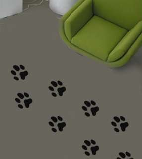 Dog Paw Prints Set Floor/Walls Vinyl Sticker/Decal