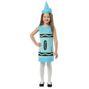 Crayola Sky Blue Tank Dress Child Costume / Blue   Size Small 4 6X