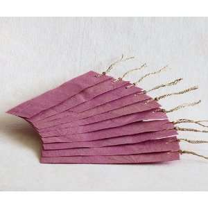 Bookmarks with Real Leaf Imprints Pink Handmade Paper Bookmark