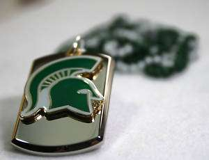 MICHIGAN STATE SPARTANS COLLEGE NECKLACE TAG PENDANT