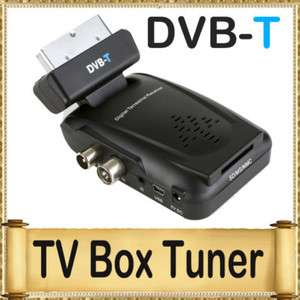 Digital Scart TV Box Tuner DVB T Mini Freeview Receiver