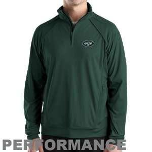 Buck New York Jets Green Burleigh Quarter Zip Performance Jacket
