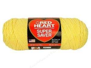 Red Heart Super Saver Yarn   Lemon