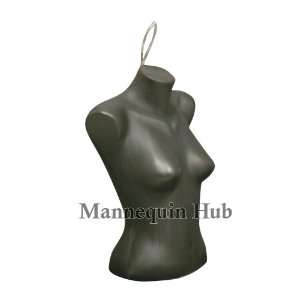 Torso Dress Form Mannequin Display Bust Black Color With Hanging Loop