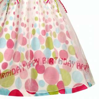 NEW Baby Girls BRIGHT BIRTHDAY DOT Size 12M Dress 2pc Clothes NWT