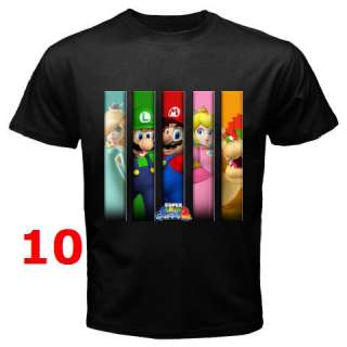 SUPER MARIO GALAXY BLACK T SHIRT