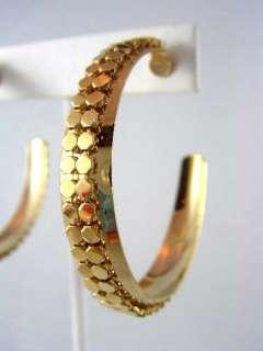 BIG LUXURIOUS GOLD P. MESH HOOP Whiting Davis Earrings
