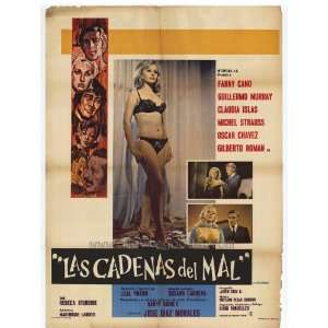Cadenas del mal, Las Movie Poster (11 x 17 Inches   28cm x 44cm) (1970