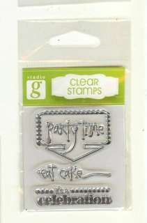 Studio g Clear Stamps Party Time Series 24 SqS