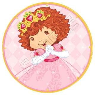 Strawberry Shortcake Princess Edible Cake Topper Image
