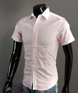 Mens Casual Slim Fit Stylish Dress Shirts S Sleeves D19