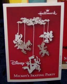 HALLMARK DISNEY MICKEYS SKATING PARTY 2002 CHRISTMAS ORNAMENT MINT IN