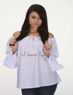 Medieval Renaissance White Chemise Costume Front Butterfly Lacing
