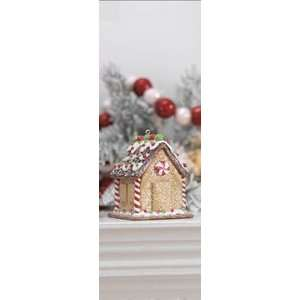 3 Gingerbread Candy House Ornate Christmas Ornament: Home