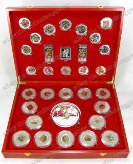 Valuable 32 Year of the Dragon Gold and Jade Coins Set
