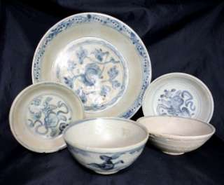 1600 Chinese Ming Dynasty Porcelain Dish, Shipwreck Cargo