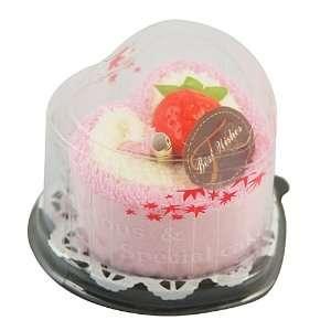 Best Wishes Heart Shaped Towel Cake Gift Set, Random Color