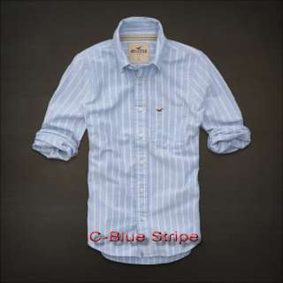 NEW 2012 NWT MENS HOLLISTER BY ABERCROMBIE PLAID CASUAL BUTTON SHIRT