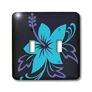 Hawaiian Flowers   Pretty Blue Hawaiian Flower On A Black Background