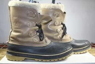 SOREL (BUFFALO) WINTER/SNOW WOOL LINED BOOTS STEEL SHANK MENS sz 10