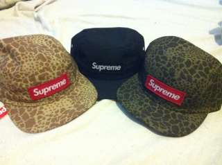 SUPREME 2012 S/S BOX LOGO CAMO CAMP CAP HAT SAFARI DONEGAL LEOPARD