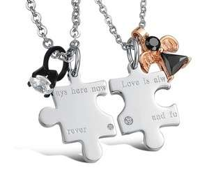 JN85 316L Stainless Steel Forever Love Puzzle Charm Wedding Couple