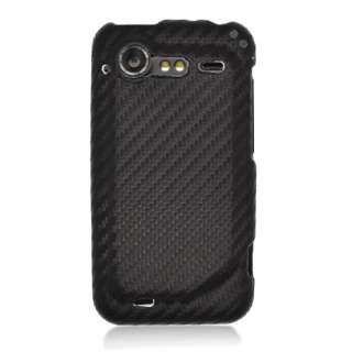 For HTC DROID Incredible 2 FABRIC Case Carbon Black New