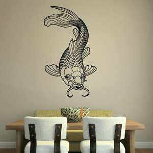 KOI CARP POND FISH CHINESE COI WALL ART STICKER transfer graphic vinyl