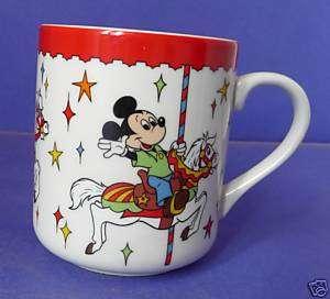 Disneyland Disney World Mickey Carrousel Childs Mug