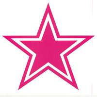 Dallas Cowboys Pink Vinyl Sticker Decal Wall or Window   4 to 24