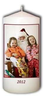 Custom Christmas Candle   Personalized Xmas Photo Gift