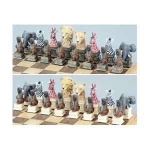 Medium Wildlife Animal Chess Pieces King 3 Toys & Games