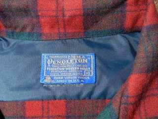 VTG 1960s PENDLETON Plaid Casual Shirt XL   Loop Collar   Great Wool