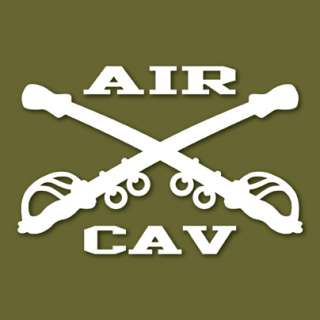 AIR CAV Army Cavalry Sabers Vinyl Decal Sticker VLACAV1